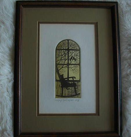 1970's Artist Intaglio / Richard Volpe Signed, Numbered & Titled