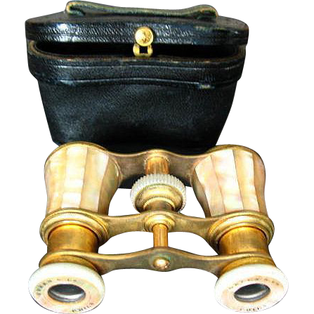 Late 1800's MOP & Brass Cased Opera Glasses