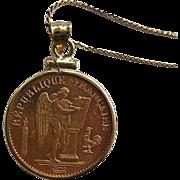 1895 France Gold 20 Franc Lucky Angel Design