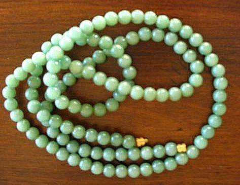Lovely Celadon Green Jadeite Necklace