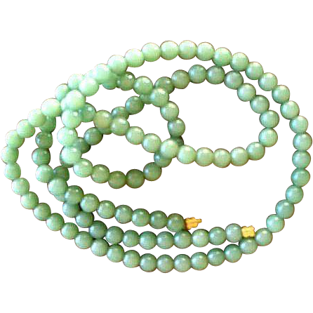 Lovely Celadon Green Jadeite Necklace