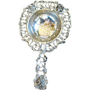 Elegant German 835 Silver Tea Strainer