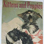 Front Cover of 1938 Book Kittens and Puppies/ Bertha Warren Boyd