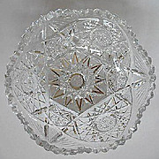 American Brilliant Cut Glass Fruit Bowl