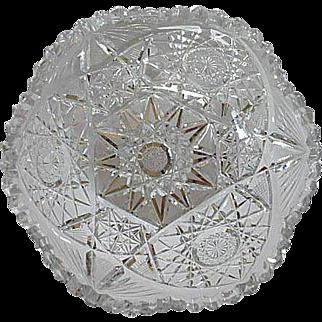 American Brilliant Cut Glass Fruit Bowl