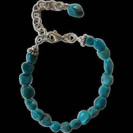 Handfashioned Turquoise Nugget Bracelet