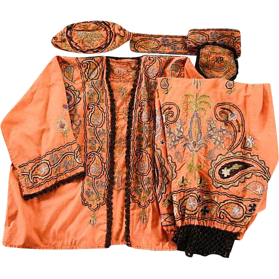 Vintage Turkish Ottoman Empire Ethnic Four Piece Outfit