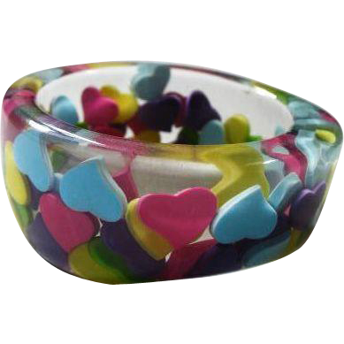 Chunky Asymetrical Lucite Bangle Bracelet
