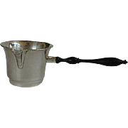 Sterling Silver Brandy Warmer / Turned Wood Handle