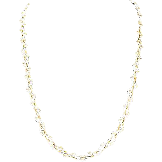 Sterling Silver Vermeil Ball & Chain Necklace