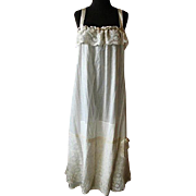 Vintage Victorian Lawn Cotton & Lace Nightgown
