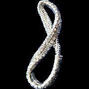 Dainty Double Row Rhinestone Expansion Bracelet