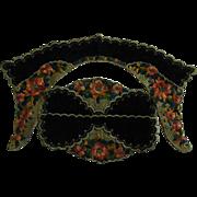 Gorgeous Embroidered Green Velvet Collar & Cuffs