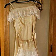 Vintage Silk Nightgown & Matching Tap Panties