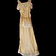 Vintage Silk Nightgown & Matching Tap Panties