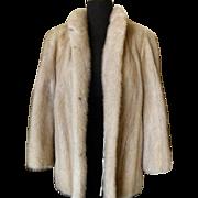 Champagne Mink Jacket w/ Drawstring Waist