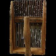 Primitive wood & Metal Berry Picker
