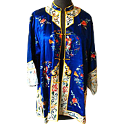 Vintage Embroidered Chinese Silk Robe