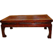 Antique Chinese Kang Handcrafted Low Table