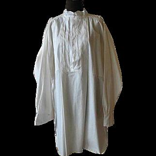 Vintage Victorian Style White Heavy Cotton Nightshirt
