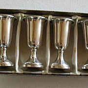 Set of Six Sterling Silver Cordials By Web