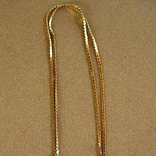 Vintage 14k Textured Gold Heart & Chain