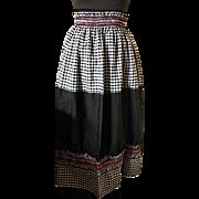 Vintage Long Length Waist Tied Apron