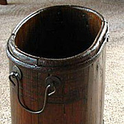 Very Vintage Authentic Wood & Iron Umbrella Stand