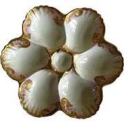 Vintage Porcelain French Oyster Plate