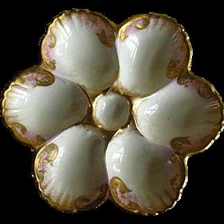 Vintage Porcelain French Oyster Plate