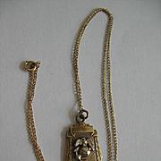 Vintage USMC Pocket Watch Key On Chain