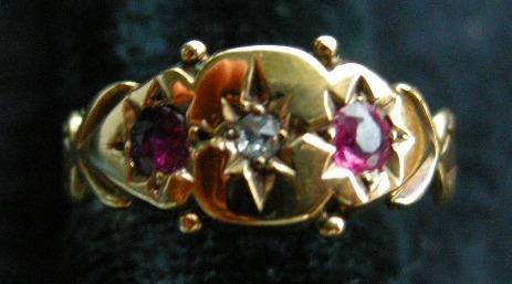 A 15ct Gold Gypsy Set Ruby Ring, Circa 1890.