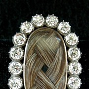 A Georgian Mourning Brooch, Silver & 9ct Gold Set With Paste, Circa 1790.