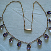 An Edwardian 9ct Gold & Amethyst Necklace. Circa 1905.