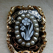 An Early Victorian Mourning Brooch. Circa 1841.