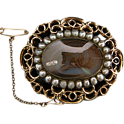 A Victorian Mourning Brooch. Circa 1845.