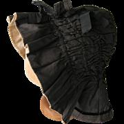 A Victorian Silk Bonnet. Circa 1850.