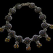 An Indian Enamel Necklace. Circa 1900.