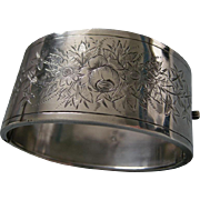 A Victorian Sterling Silver Hinged Bracelet. Circa 1882.
