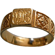 A Victorian 18ct Gold Decorative Ring. Circa 1876.