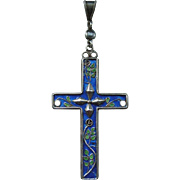 An Edwardian Arts and Crafts Sterling Silver Cross. Circa 1905.