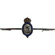 A 9ct Gold British Royal Brooch. Circa 1910.
