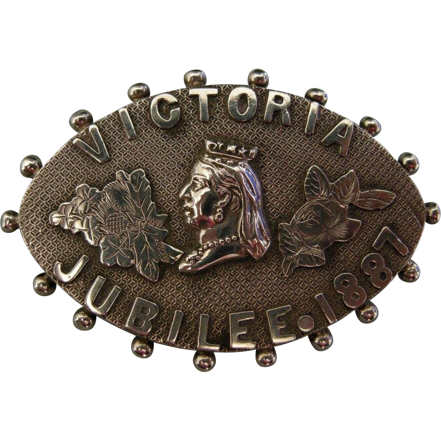 A Victorian Sterling Silver Golden Jubilee Brooch. Circa 1887.