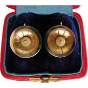 A Pair of Victorian 15ct Gold Earrings. Circa 1875.