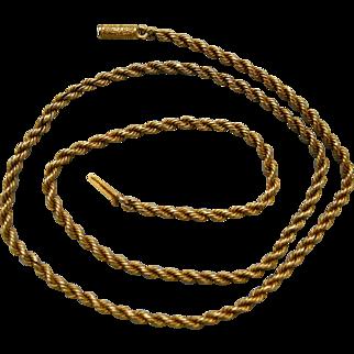 A Victorian 15ct Gold Chain. Circa 1885.