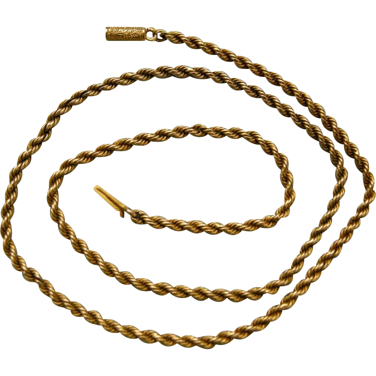 A Victorian 15ct Gold Chain. Circa 1885.