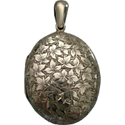 A Sterling Silver Victorian Locket. Circa 1882.