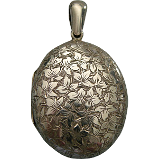 A Sterling Silver Victorian Locket. Circa 1882.