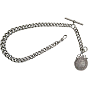 A Victorian Sterling Silver Albert Chain. Circa 1900.