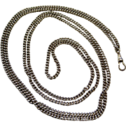 An Edwardian Sterling Silver Long Guard Chain. Circa 1902
